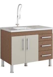 Gabinete Para Cozinha Flex 80X94Cm Amêndoa E Off White