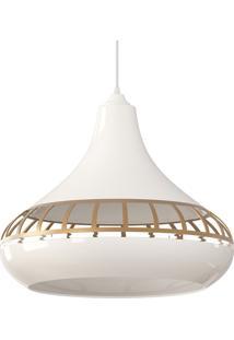 Luminária Pendente Combine 1420 Branca E Dourada Spirit Bivolt