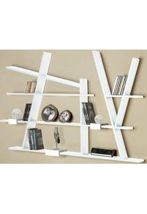 Prateleira Decorativa Turner 325 Branco - Maxima
