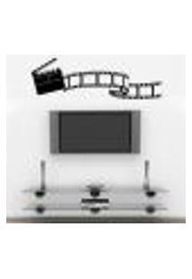 Adesivo De Parede Claquete De Cinema - Tama Único 50X140Cm