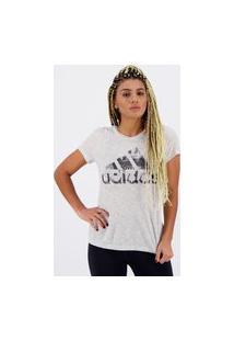 Camiseta Adidas Versat Feminina Cinza Mescla