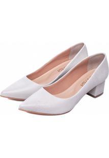 Sapato Scarpin Torricella Off-White - Kanui