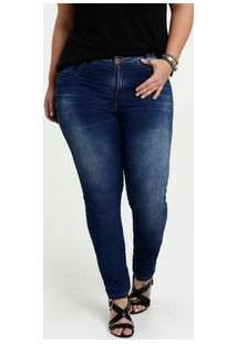 Calça Feminina Jeans Stretch Skinny Plus Size Biotipo