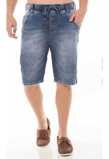 Bermuda Jeans Denúncia Jogger Masculina - Masculino
