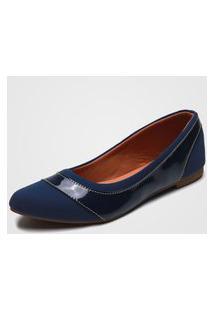 Sapatilha Dafiti Shoes Recorte Azul