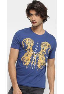 Camiseta Zoomp Strong Together Masculina - Masculino-Azul