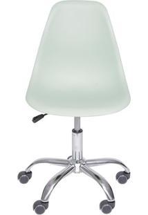 Cadeira Eames Dkr- Verde Claro & Prateada- 93X47X41Cor Design