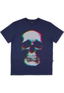 Camiseta Alkary Caveira Cromia Marinho