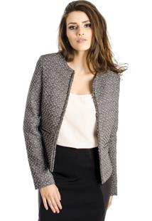 Casaqueto Alphorria A.Cult Tweed Com Corrente Preto