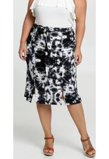 Saia Feminina Clochard Estampa Tie Dye Plus Size