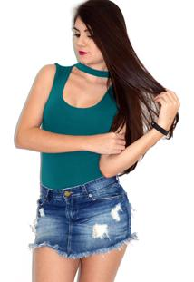 Body Up Side Wear Choker Verde