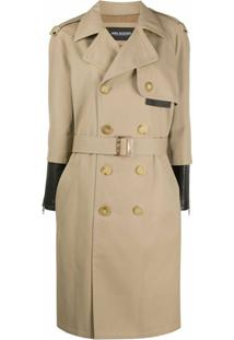 Neil Barrett Trench Coat Bicolor - Neutro