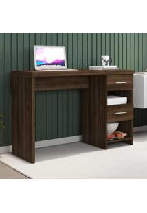 Mesa Para Computador 2 Gavetas Duna New Capuccino - Móveis Germai