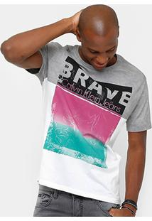 Camiseta Calvin Klein Tinturada Brave Masculina - Masculino