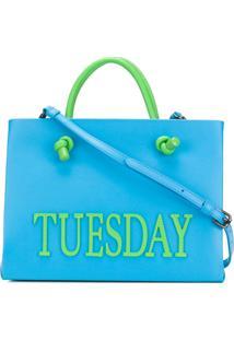 Alberta Ferretti Bolsa Tote Pequena 'Tuesday' - Azul