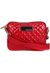 Bolsa Loucos & Santos Mini Bag Matalassê Plaquinha Feminina - Feminino-Vermelho