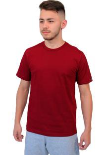 Camiseta Manga Curta Baiki Badhai Gola Redonda Bordô
