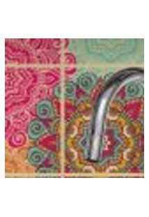 Adesivo De Azulejo Floral Boho 15X15 Cm Com 18Un