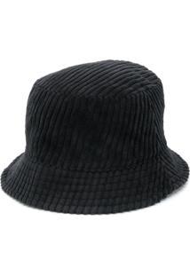 Isabel Marant Chapéu Bucket De Veludo Cotelê - Preto