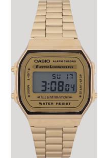f811e7a4fa924 CEA. Único Unissex Relógio - A168wg9wdfu Casio Digital Dourado