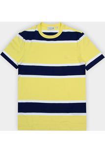 Camiseta Lacoste Listras Masculina - Masculino