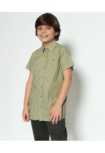 Camisa Maquinetada - Verde & Azul Marinhoogochi