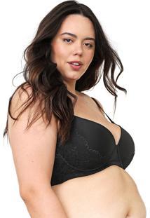 Sutiã Calvin Klein Underwear Meia-Taça Argos Preto