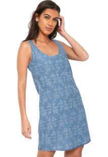 57c0f0547 ... Vestido Jeans Cativa Curto Floral Azul