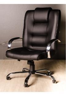 Cadeira Escritório Classic Presidente Extra Grande Aranha Cromada