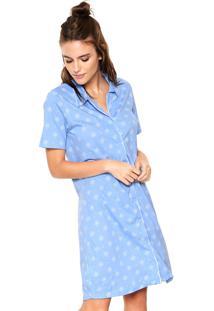 Camisola Malwee Liberta Curta Botões Azul