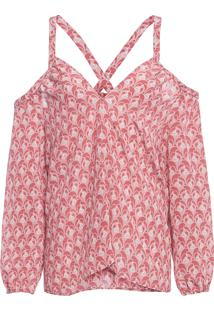 Blusa Feminina Decote Cruzado - Rosa