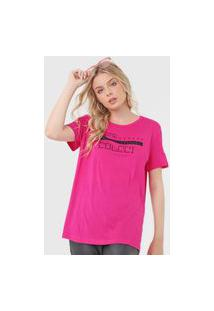 Camiseta Colcci No Time Pink