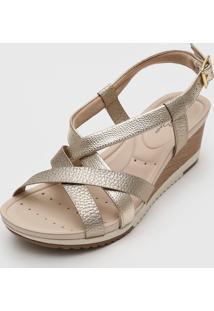 Sandália Modare Metalizada Dourada
