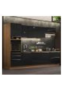 Cozinha Completa Madesa Lux 320004 Com Armário E Balcão - Rustic/Preto