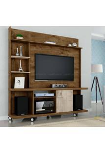 Estante Home Theater Para Tv Até 47 Polegadas 1 Porta Taurus Madeira Rústica/Vanilla Rústico - Móveis Bechara