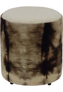Puff Forrado Kilim Batik Brown 1 - 45X43X43