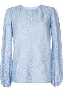 Nº21 Blusa Com Renda - Azul