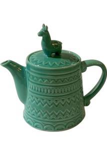 Bule Lhama Teapot- Verde- 17,5Xø12,2Cm- Urbanurban
