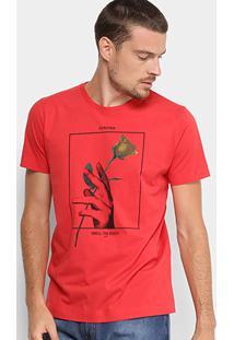 Camiseta Forum Estampa Rose Masculina - Masculino-Vermelho