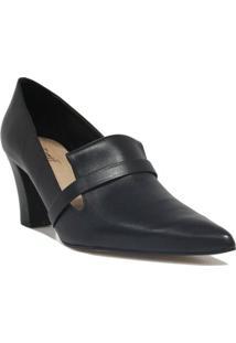 Scarpin Zariff Shoes Salto Bloco Feminino - Feminino-Preto