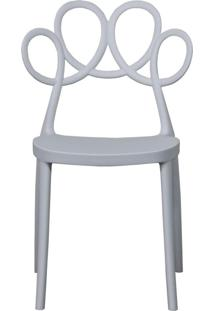 Cadeira Decorativa Para Cozinha Laço Branco - Gran Belo - Tricae