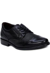 Sapato Oxford Masculino Pegada - Masculino-Preto