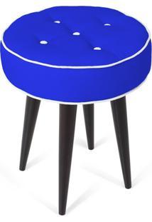 Puff Decorativo Para Sala, Quarto Retro Atz 138 Azul Royal