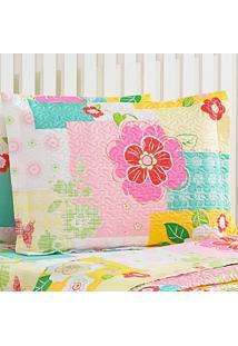 Porta Travesseiro Patchfloral
