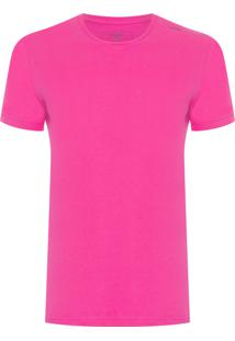 Camiseta Masculina Swim Estampa Logo - Rosa