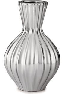 Vaso Metalizado- Prateado- 16,5Xã˜10,5Cm- Martmart