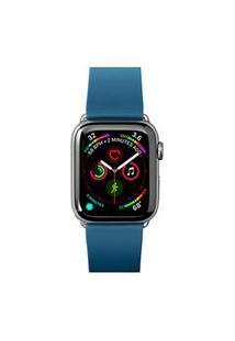 Pulseira Para Apple Watch 42/44Mm Active Em Borracha Tpu Azul Petróleo - Laut - Lt-Awlacbki