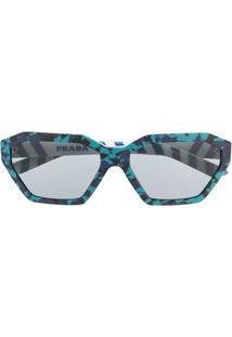 Prada Eyewear Óculos De Sol 'Disguise' - Azul