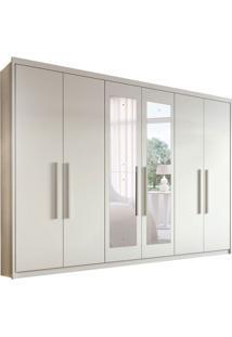 Guarda-Roupa Casal Com Espelho Aries 6 Pt 4 Gv Branco