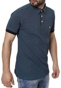 Camisa Polo Manga Curta Masculina Azul Marinho